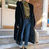 #Faux Fur Hooded Oversized Coat オーバーサイズ  フード付き フェイクファー ロング コート 黒