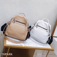 #2way Faux Leather  Backpack フェイクレザー 大容量 バックパック 全4色