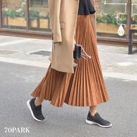 #Long Pleated Skirt  スエード調 ロング  細プリーツ スカート 全6色