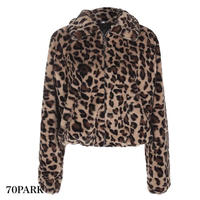#Leopard Faux Fur Jacket  レオパード柄 エコ ファー ジャケット