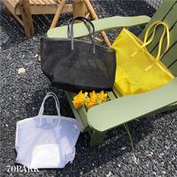 #Mesh Tote Bag ポーチ付き メッシュ トートバッグ 全3色 A4収納可