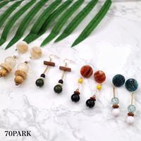 #Mix Stone Pierced Earrings  ミックス ストーン ピアス 全4タイプ
