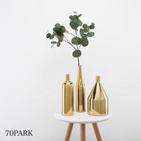 #ゴールドカラー メタリック 花瓶 全3タイプ 一輪挿し