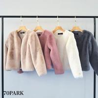 #Eco Fur Coat エコファー ショート ジャケット 全5色