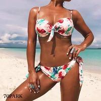 #Floral Print Bow Bikini  花柄 プリント リボン ビキニ 水着