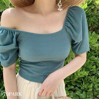 #Off The Shoulder Puff Sleeve Top オフショルダー パフスリーブ トップス 全3色