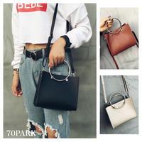 # Metal Handle Mini Shoulder Bag  ポーチ付きメタル ハンドル ミニ ショルダー バッグ 2WAY