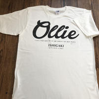Kitchen Cart Ollie T-shirt (handmade print ver.) ホワイト
