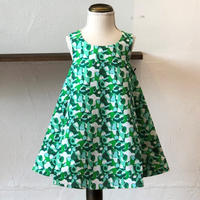 北欧ブランドプリント柄ワンピース Suvi bebe 1172052 Kids dress with lining Green Drop print