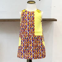 北欧ブランドプリント柄ワンピース Emilia bebe 1272050 Sleeveless dress in Laine print and yellow block color