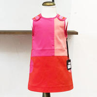 北欧ブランドワンピース Emilia bebe 1172270 Kids Sleeveless red dress in block colors
