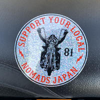 SUPPORT 81 Old Biker_Sticker_90mm_HOLOGRAM