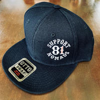 SUPPORT 81 SIDE Logo Cap_Black_Snapback