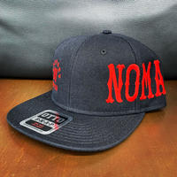 SUPPORT 81 NOMADS JAPAN Snap back hat (Font)_Black