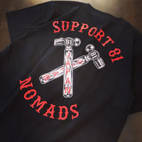 SUPPORT 81 HAMMER Tee - BLACK