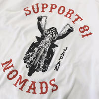 SUPPORT 81 Old Biker Tee - WHITE