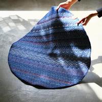 刺繍トライバルラグΦ80cm|COOVA
