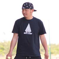 WEED MASONRY  Tシャツ  黒/白