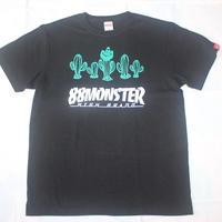 SABOTEN Tシャツ黒/緑