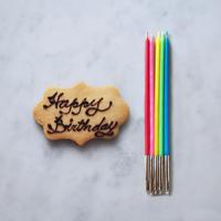 メッセージクッキープレート&キャンドル