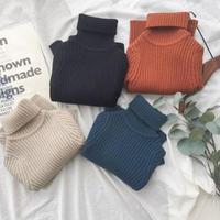 送料無料★秋冬stripe  knit  4color