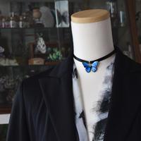 メネラウスモルフォのチョーカー  blue plus.col 3sSize
