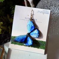 蝶のピアス メネラウスモルフォblue.col 2Ssize (片耳用)