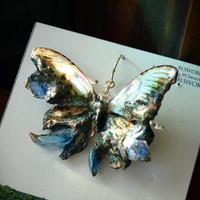 メネラウスモルフォのピアス 腐蝕鉱石.col 2Ssize (片耳用)⑤