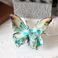 蝶のオブジェ メネラウスモルフォ 腐蝕鉱石mint.col 2Ssize