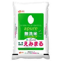アピュア JA富良野産 直播栽培米 えみまる 無洗米 5kg  北海道米