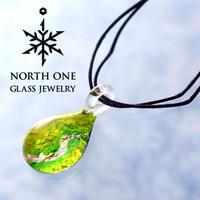 NORTH ONE GLASS JEWELRY 釧路湿原<br>ドロップ Mサイズ 北海道 釧路限定<br>ノース ワン グラス ジュエリー