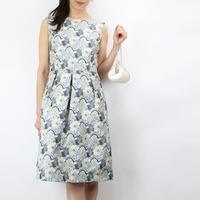 FIGNOイタリア製ファブリック花柄ドレス_0111647