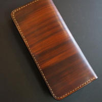 スリムロングウォレット wood brown