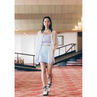 SK02-01 ギンガムレースミニスカート 01 BLU