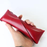 ◆Orikawa: Pen Case◆イタリアンレザー,縫い目無し