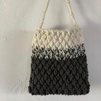 送料込み 木立模様のグラデーションバッグ -印刷済み編み図