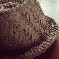 和紙糸で編むななめ模様の帽子 -編み図データのみ-