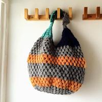 玉編みのあずまぶくろバッグ