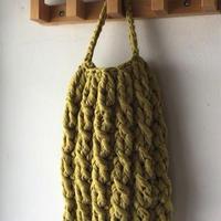 送料込み ズパゲッティで編むチェーン模様のバッグー印刷済み編み図のみ