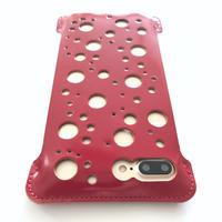 限定品【abicasePro】iPhone7Plus sj カーマインレッドコードバン/パンチング