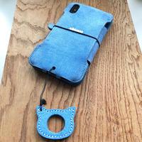 【サンプル1点物】abicaseFLAP(iPhoneX用)手帳型ジャケット