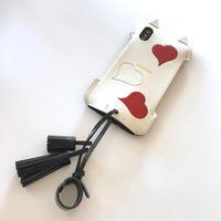 【1点物】abicaseXSJCAT/iPhoneX用シンプルジャケット猫/白黒