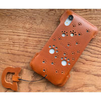 【iPhone XR】肉球パンチングジャケット/キャメル
