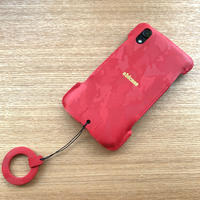 サンプル品【iPhone XR】ウォレットジャケット /エンボス迷彩レザー