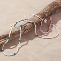NORTH WORKS ノースワークス / SHELL&TURQUOISE BEADS NECKLACE / D-702