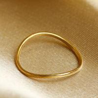 Losau ロサウ / curve ring リング / lo-r004-K18 gold