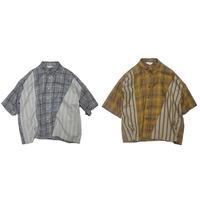 【全2色】JieDa ジエダ / ASYMMETRY S/S SHIRT アシンメトリーショートスリーブシャツ / Jie-20S-SH04