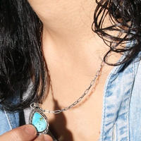 NORTH WORKS ノースワークス / 10cent TEARDROP WIRE RIM TURQUOISE PENDANT / N-320