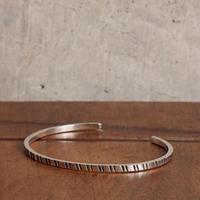 NORTH WORKS ノースワークス / 900Silver Square Narrow Cuff Bracelet3 バングル / W-045