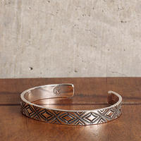 NORTH WORKS ノースワークス / 900Silver Stamp Cuff Diamond バングル / W-038